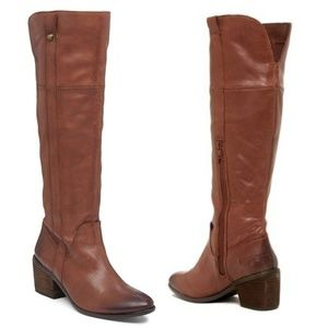 Vince Camuto Mordona Leather Riding Boot 9 Bourbon